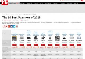 Dva Fujitsu skenera u Top 10 za 2015. godinu slika